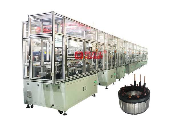 汽车水泵电机定子分块式绕线设备