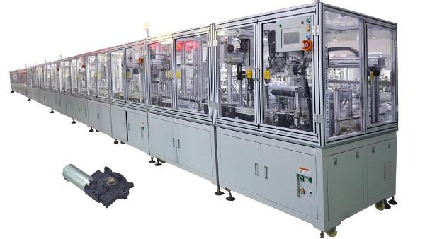 整套全自动化汽车天窗电机生产线装配设备