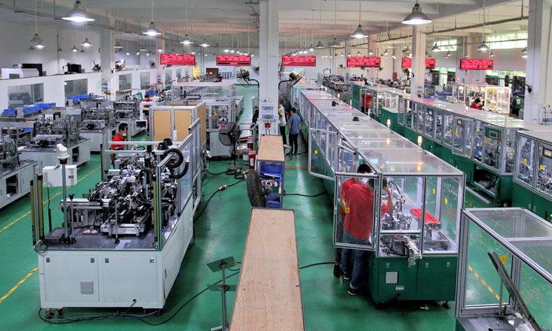 合力士电机装配生产线